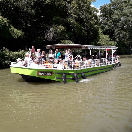 "Lou Gabaret and Helios Boat on ""canal du midi"""